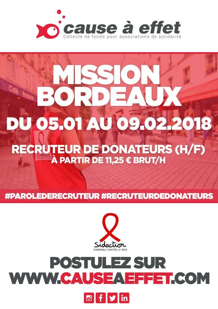 mission job Bordeaux sidaction