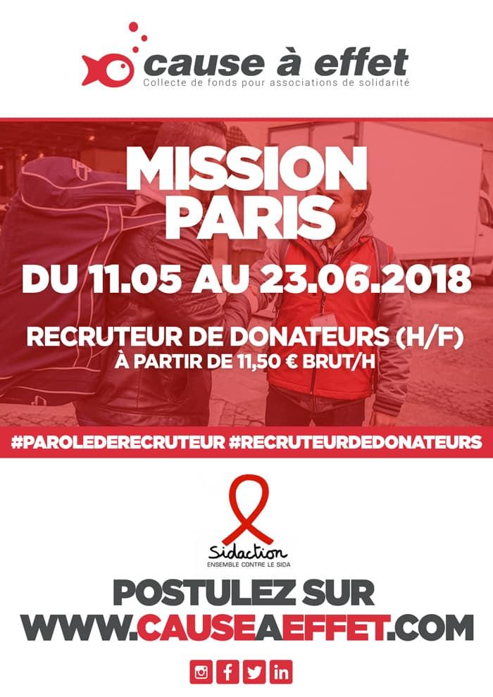 sidaction, Paris, offre d'emploi