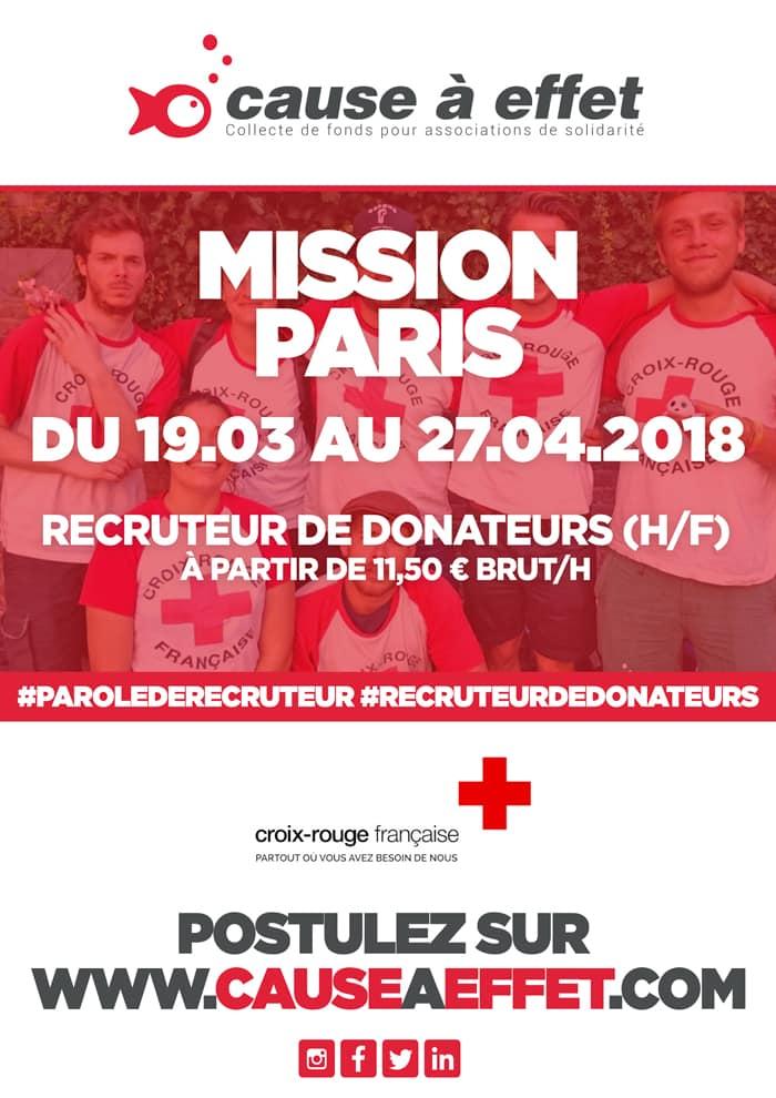 croix rouge francaise, recruteur de donateur
