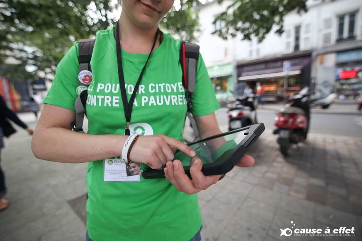 oxfam, recruteur de donateurs