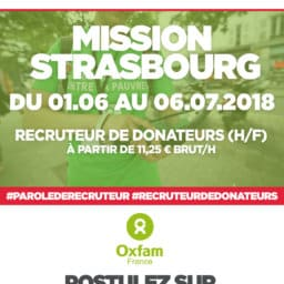 Oxfam, France, mission