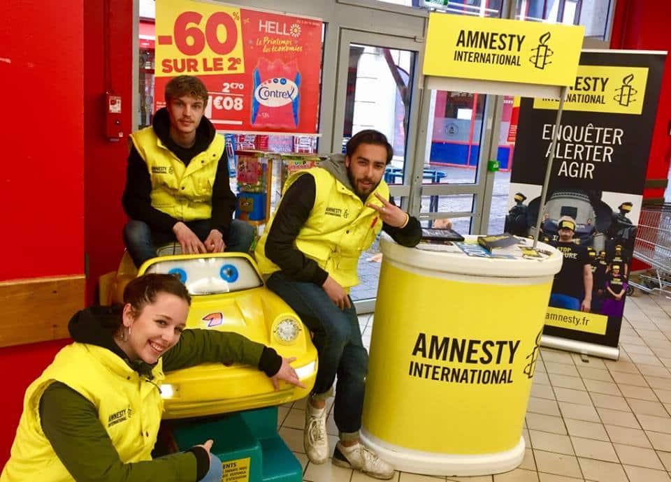 amnesty, centre commerciaux