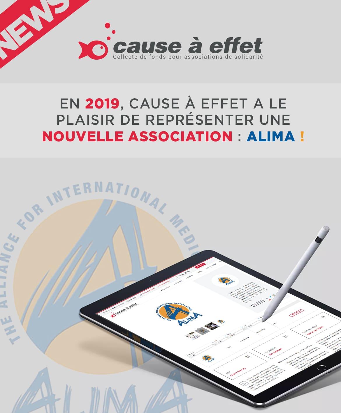 2019, Cause a Effet représente une nouvelle association : ALIMA