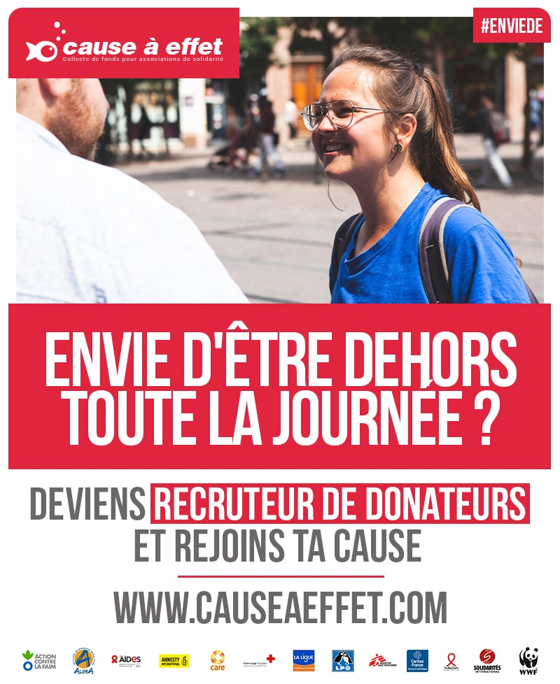 Poster design de campagne marketing pour recruter des RD