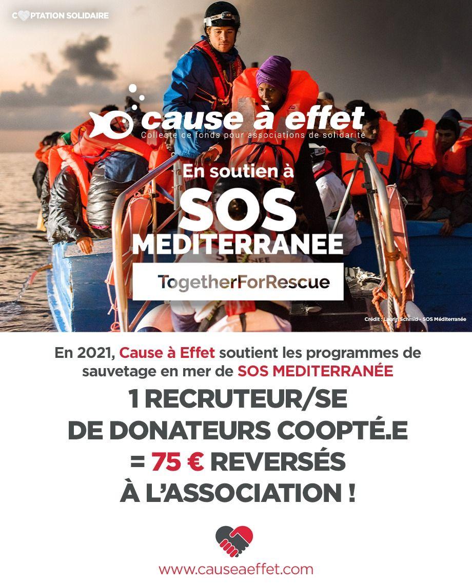 sos Méditerrannée, cooptation solidaire 2021 chez Cause à Effet